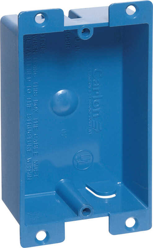 Carlon  3-5/8 in. Rectangle  1 Gang  Outlet Box  Blue  PVC