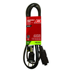 Ace  Indoor  6 ft. L Brown  Extension Cord  16/2 SPT-2