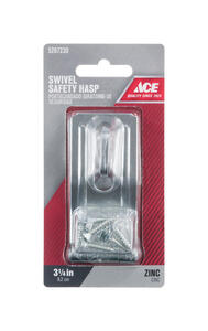 Ace  Zinc  3-1/4 in. L Swivel Staple Safety Hasp