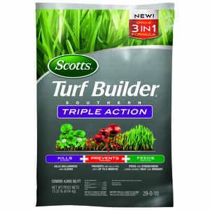 Scotts  Turf Builder Triple Action  29-0-10  Weed Control Plus Lawn Food  For Southern 13.32 lb. 400