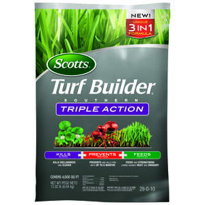 Scotts  Turf Builder Triple Action  29-0-10  Weed Control Plus Lawn Food  For Southern