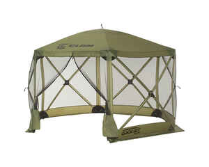 Clam  Quick-Set  Green  Polyester  6 Sided  Hub Screen Canopy  12 ft. W x 90 in. H x 12 ft. L