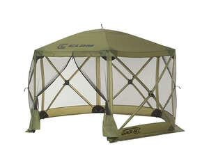 Clam  Quick-Set  Green  Polyester  6 Sided  12 ft. W x 12 ft. L Hub Screen Canopy
