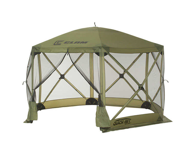 Clam  Quick-Set  Polyester  6 Sided  Hub Screen Canopy  90 in. H x 12 ft. W x 12 ft. L