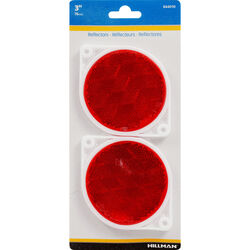 Hillman 3 in. Round Red Reflectors 2 pk