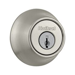 Kwikset  Satin Nickel  Metal  Double Cylinder Deadbolt