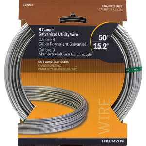 HILLMAN  50 ft. L Steel  9 Ga. Wire  Galvanized