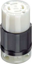 Leviton Industrial Nylon Curved Blade/Ground Locking Connector L14-30R 3 Pole 4 Wire Bagged