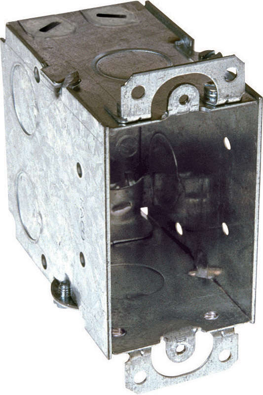 Raco 3 in. Rectangle Steel 1 gang Outlet Box Gray