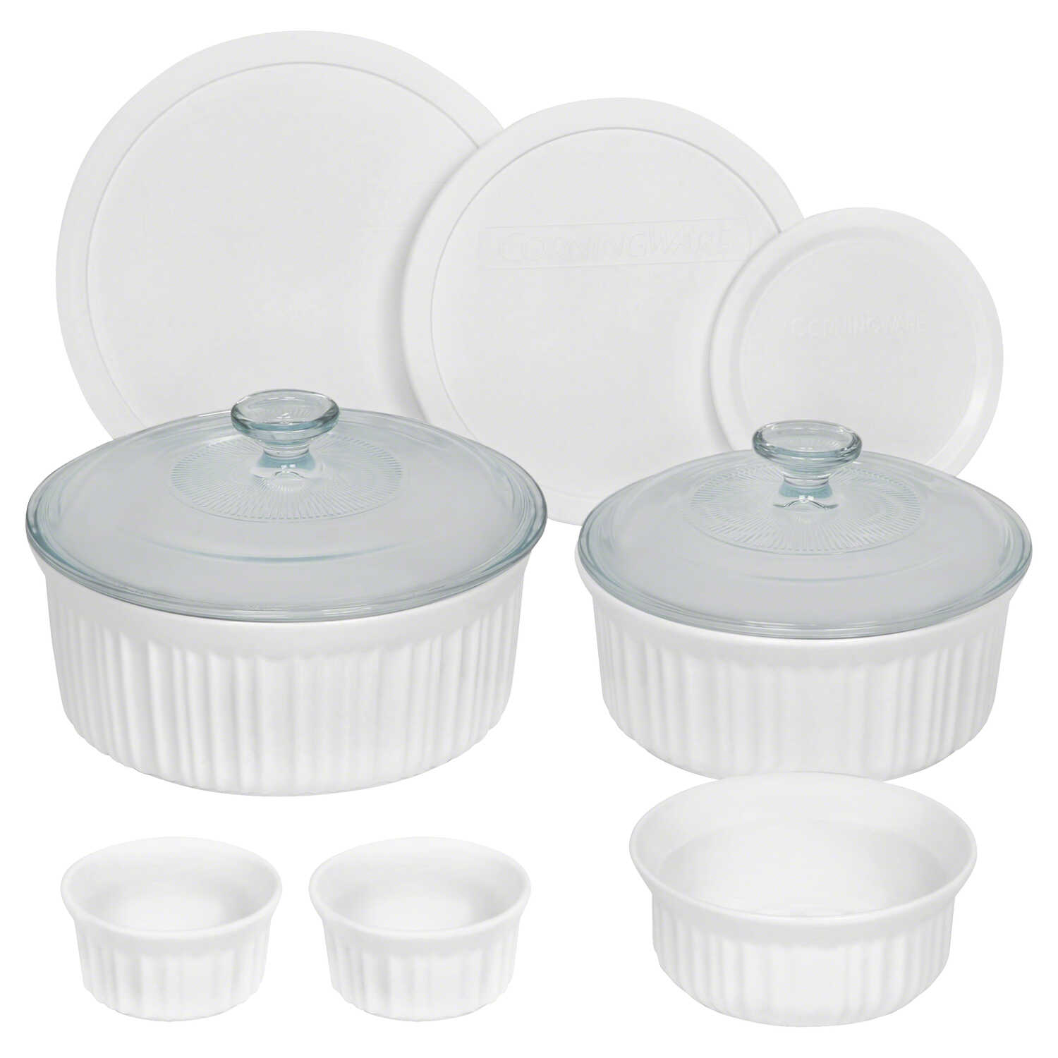 Corningware  Ceramic  Bake Set  White