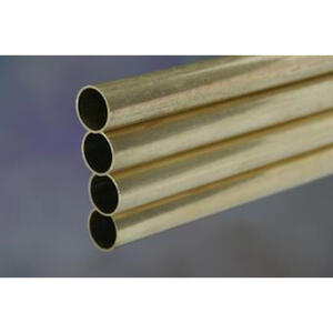K&S  1/8 in. Dia. x 36 in. L Round  Brass Tube  1 pk