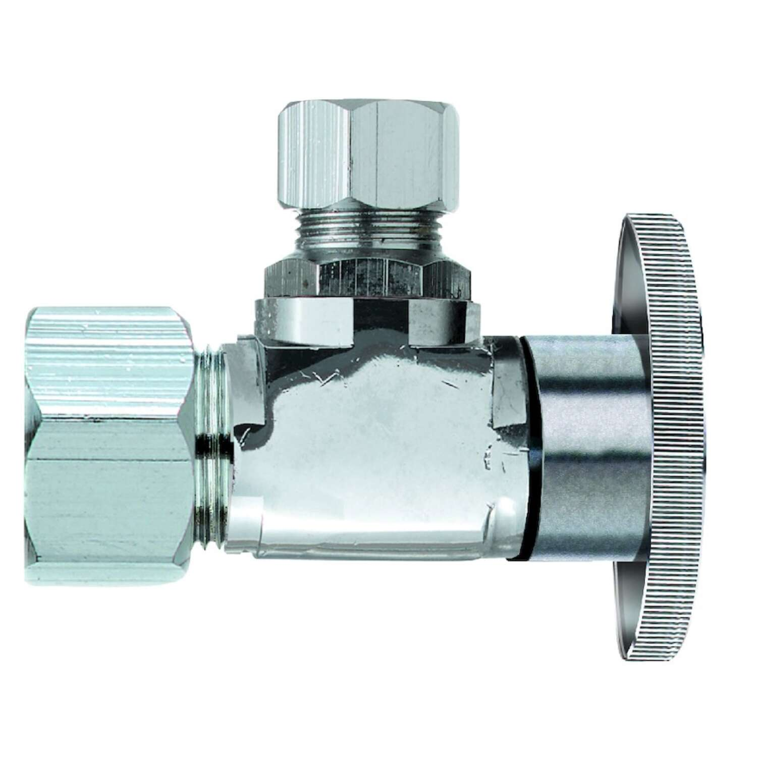 Keeney  5/8 in. Dia. x 1/2 in.  x 1/2 in. Dia. x 1/2 in.  Ball  Shut-Off Valve  Brass