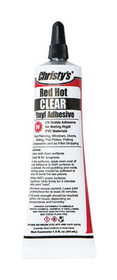 Christys  Red Hot  Clear  Adhesive  For PVC/Vinyl 8 oz.