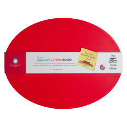 Architec  Gripper  13 in. W x 17 in. L Textured  Red  Polypropylene  Concave Cutting Board