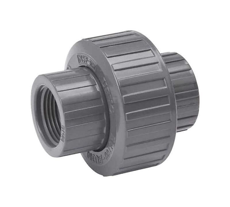 B & K  ProLine  Schedule 80  1-1/2 in. FPT   x 1-1/2 in. Dia. Threaded  PVC  Union