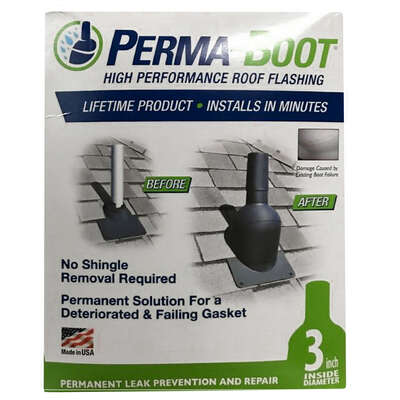 Perma-Boot 7-1/4 in. W x 8 in. L Plastic Roof Flashing Black