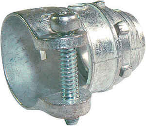 Sigma Electric ProConnex  1/2 in. Dia. Die-Cast Zinc  Squeeze Connector  For AC, MC or FMC/RWFMC 1 p