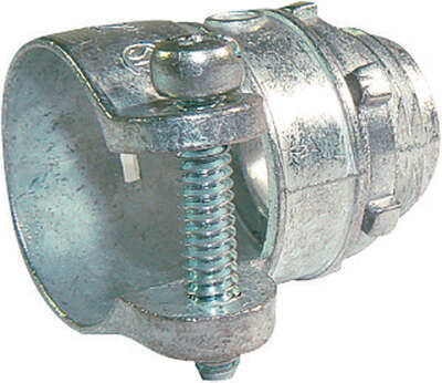 Sigma Electric  ProConnex  1/2 in. Dia. Die-Cast Zinc  Squeeze Connector  For AC, MC or FMC/RWFMC 1