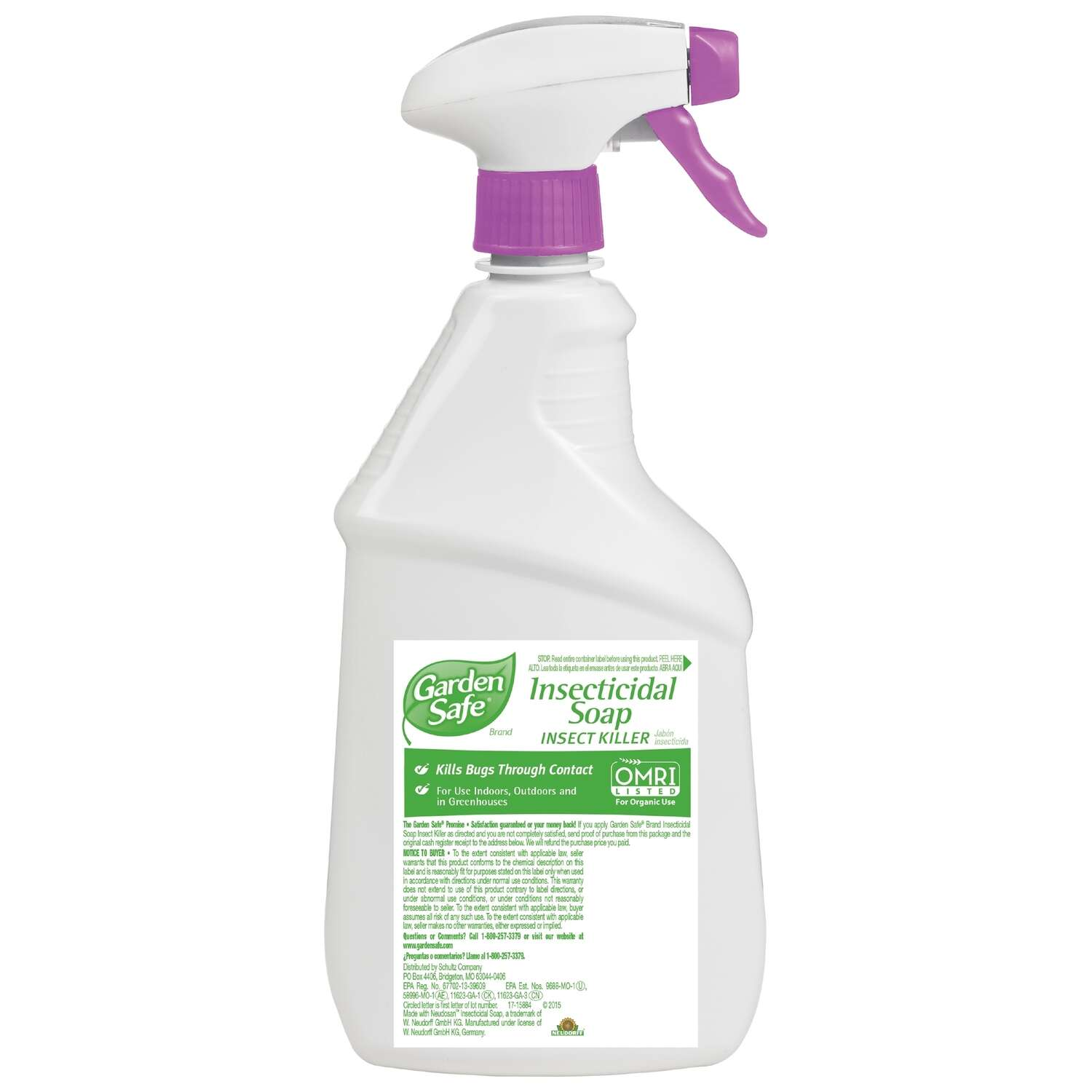 Garden Safe  Insecticidal Soap  Organic Insect Killer  24 oz.
