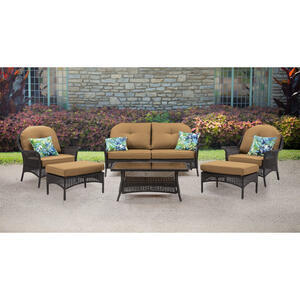 Hanover  San Marino  6 pc. Java  Steel  Patio Set  Country Cork
