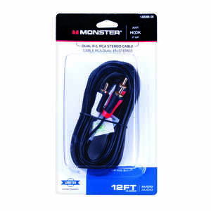 Monster Cable  Just Hook It Up  12 ft. L Dual R/L RCA Stereo Cable  RCA