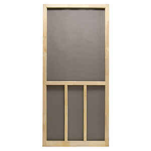 Precision  Aspen  80-1/2 in. H x 32 in. W Aspen  Natural Wood  Wood  Screen Door