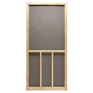 Superior  Aspen  80-1/2 in. H x 32 in. W Natural Wood  Wood  Aspen  Screen Door
