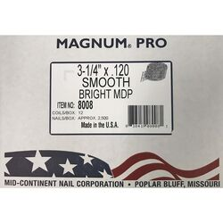 Magnum Pro 3-1/4 in. Angled Coil Nails 15 deg. Smooth Shank 2500 pk