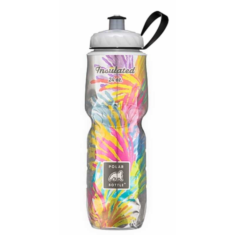 Polar Bottle  Multi-Colored  Plastic  Double Wall Insulation  Water Bottle  BPA Free 24 oz.