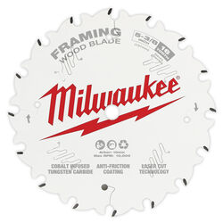 Milwaukee  5-3/8 in. Dia. x 10 mm  Framing Blade  Tungsten Carbide  16 teeth 1 pk