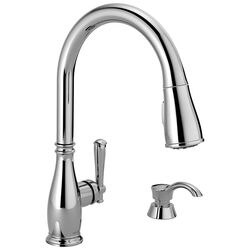 Delta  Charmaine  One Handle  Chrome  Pulldown Kitchen Faucet
