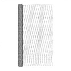 Garden Craft  60 in. H x 50 ft. L 20 Ga. Silver  Poultry Netting