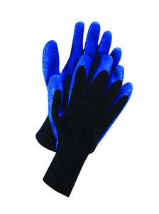 Ace  Men's  Outdoor  Acrylic  Dipped Gloves  Black/Blue  XL  1 pair