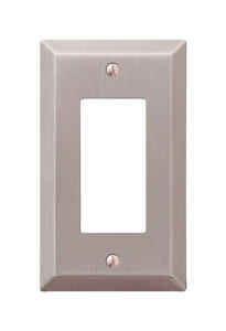 Amerelle  Century  Brushed Nickel  1 gang Stamped Steel  Rocker  Wall Plate  1 pk