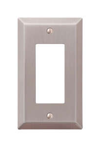 Amerelle  1 gang Stamped Steel  Wall Plate  1 pk