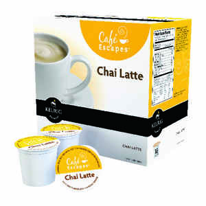 Keurig  Cafe Escape  Chai Latte  Tea K-Cups  Decaffeinated 16 pk