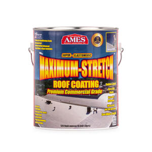 Ames  Smooth  Tintable White  Acrylic Latex  Maximum Stretch Premium Roof Top Coat  1 gal.