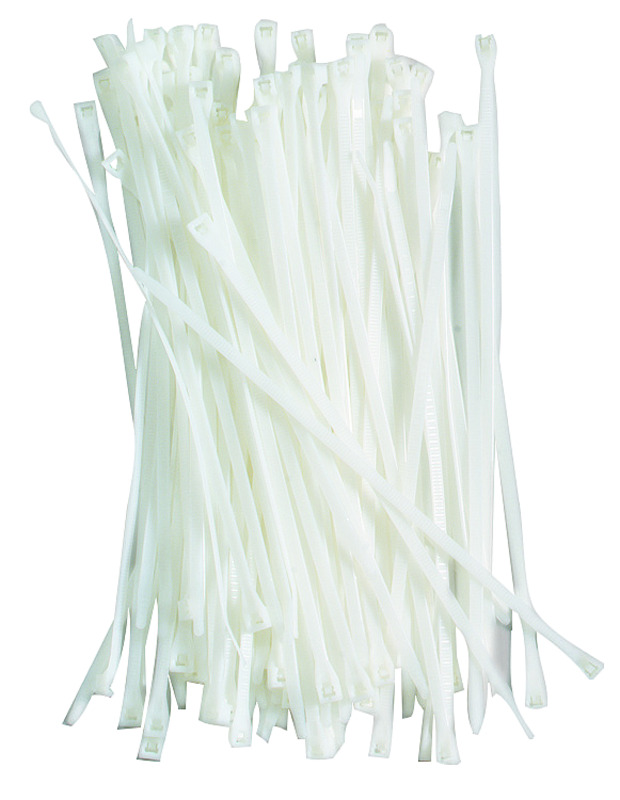 Gardner Bender  DoubleLock  8 in. L White  Cable Tie  100 pk