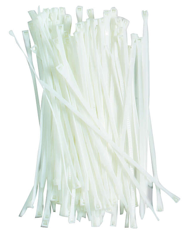 Gardner Bender  8 in. L White  Cable Tie  100 pk