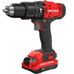 Craftsman  20 volt 1/2 in. Brushed  Cordless Hammer Drill  Kit (Battery & Charger)