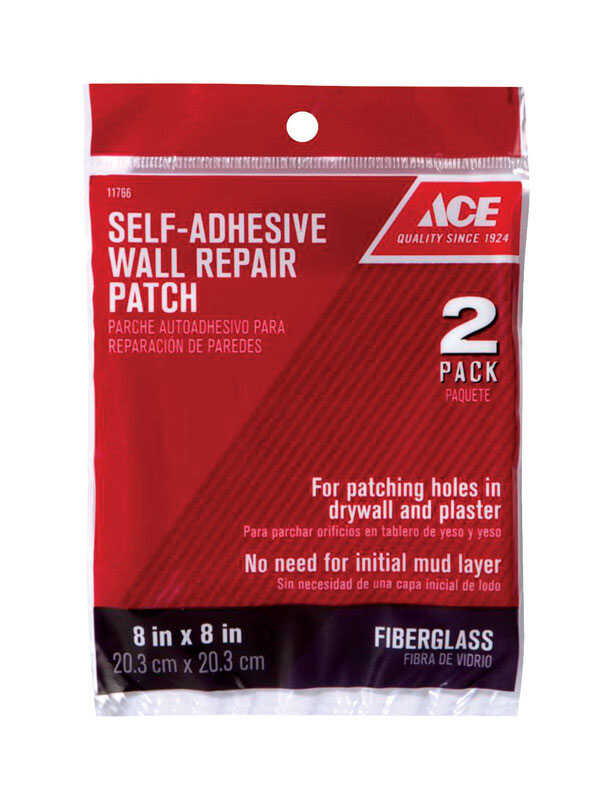 Ace  0.67 ft. L x 8 in. W Fiberglass  White  Self Adhesive Wall Repair Patch