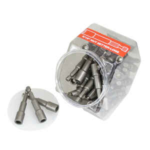 Best Way Tools  5/16 in.  x 2-9/16 in. L Steel  Magnetic Nut Setter  50 pc.