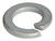 Hillman 0.19 in. Dia. Zinc-Plated Steel Split Lock Washer 100 pk