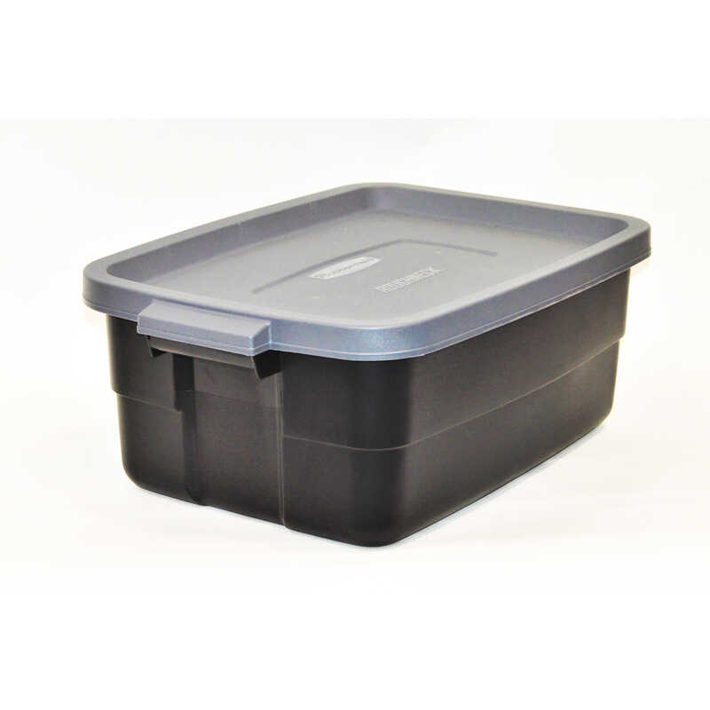 Rubbermaid Roughneck 8 7 In H X 15 9 W 23 875 D Stackable Storage Box Ace Hardware