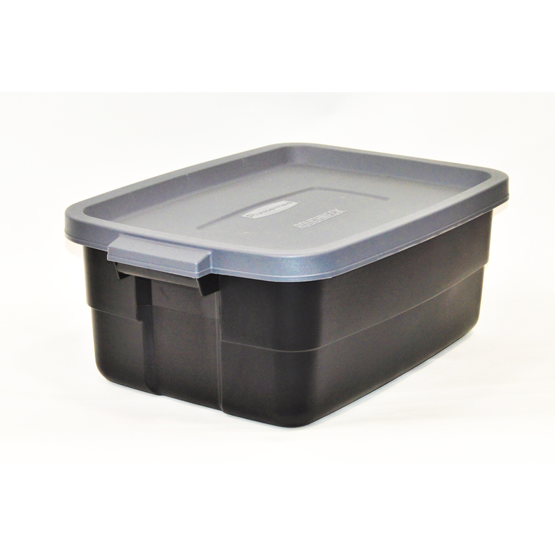 Rubbermaid Roughneck 8.7 In. H X 15.9 In. W X 23.875 In. D Stackable Storage  Box   Ace Hardware