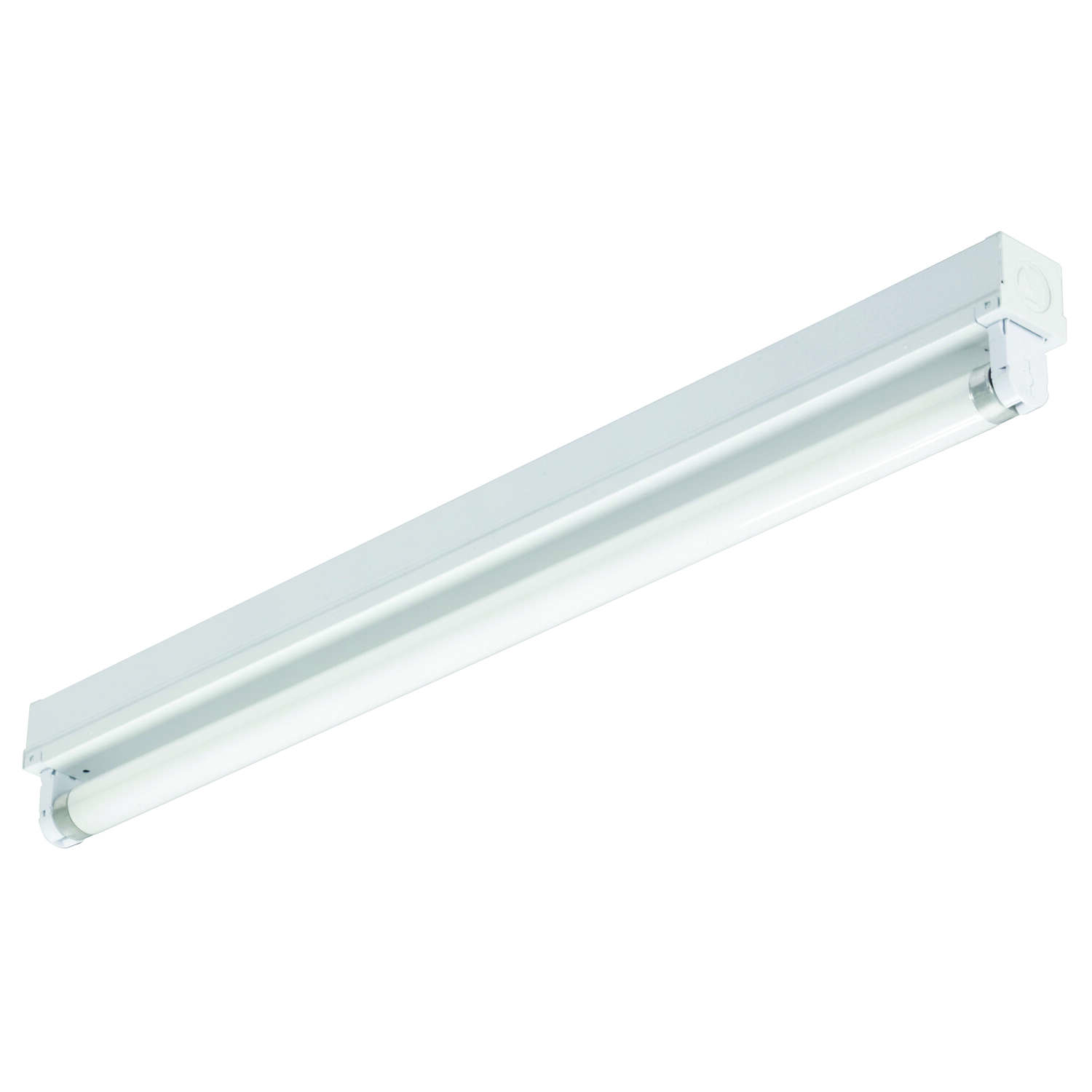 Lithonia Lighting  24.375 in. L White  Hardwired  Fluorescent  Strip Light