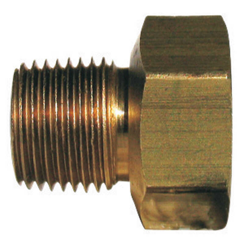 JMF  1/4 in. 1/4 in. Dia. Male  Brass  Inverted Flare Adapter
