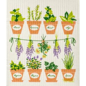 Wet-It!  Multicolored  Cellulose/Cotton  Herb pots  Dish Cloth  1 pk