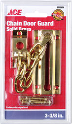 Ace  3.38 in. L Bright Brass  Brass  Chain Door Guard