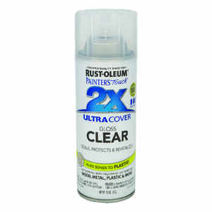 Rust-Oleum  Painter's Touch Ultra Cover  Gloss  Clear  Spray Paint  12 oz.